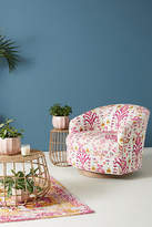 Anthropologie Purcella-Printed Amoret Swivel Chair