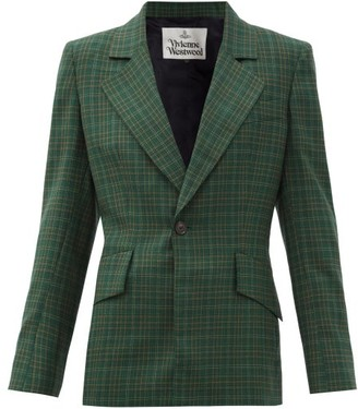 Vivienne Westwood Tartan-check Wool-twill Suit Jacket - Green