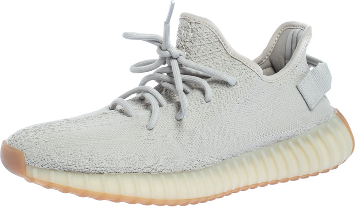 Yeezy x Adidas Sesame Cotton Knit Boost 350 V2 Sneakers Size 42