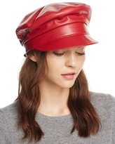 Eric Javits Night Porter Leather Cap