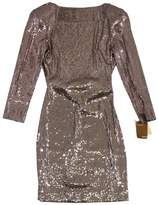 Ali Ro Bronze Open Back Sequined Dress