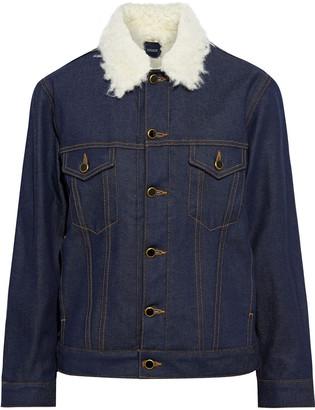 KHAITE Cate Faux Shearling-trimmed Denim Jacket