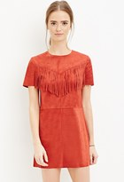 Forever 21 Fringed Faux Suede Dress