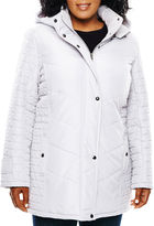 KC Collections Multi-Quilted Walker Coat - Plus