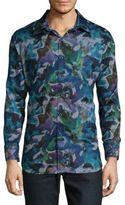 Robert Graham A.S. Roma Pinwheel-Check Cotton Sportshirt