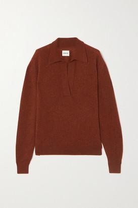 KHAITE Jo Cashmere-blend Sweater - Burgundy