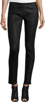 Haute Hippie Skinny Embossed Suede Pants, Black