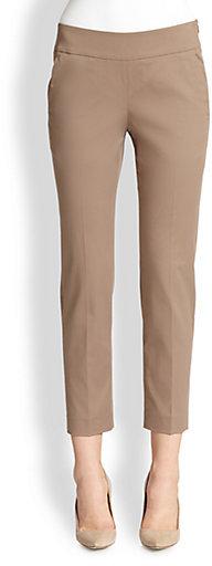 Brunello Cucinelli Cropped Side-Pocket Cotton Pants