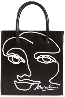 Moschino Sm Cornely Leather Top Handle Bag