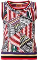Missoni geometric pattern knitted tank