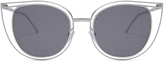 Thierry Lasry Eventually - Silver & Solid Grey