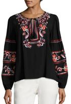 Parker Persimmon Embroidered Blouse