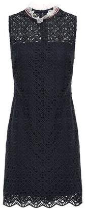 Sandro Dovera Ruffle-trimmed Macrame Lace Mini Dress
