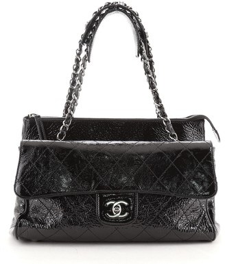 Chanel Ritz Flap Bag Quilted Patent Small