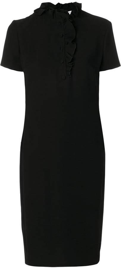Lanvin frilled neck midi dress