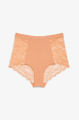 Monki High waist lace briefs
