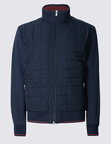 Blue Harbour Grid Quilted Funnel Neck Sweatshirt