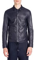 Emporio Armani Nappa Leather Shirt Jacket