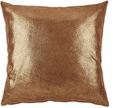 Barneys New York Metallic Leather Pillow