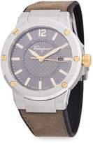 Salvatore Ferragamo Men's Stainless Steel Analog Leather-Strap Watch
