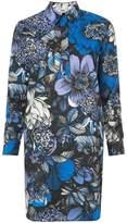 Fuzzi floral print shirt dress