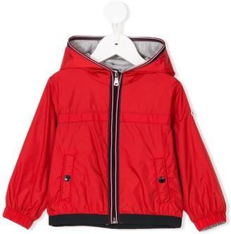 Moncler Enfant Striped Detail Hooded Jacket