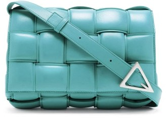 Bottega Veneta Cassette Small Intrecciato-leather Cross-body Bag - Light Blue