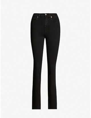 7 For All Mankind The Straight Bair high-rise stretch-denim jeans