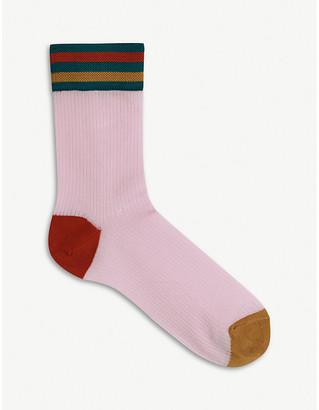 Hysteria By Happy Socks Lona colour-block knitted crew socks