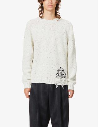 Maison Margiela Distressed wool-blend jumper