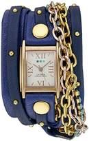 La Mer Women's WANDERLUST00300 Analog Display Japanese Quartz Blue Watch