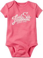 Carter's Baby Girl Family Slogan Bodysuit