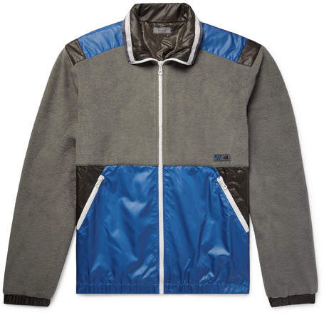 Lanvin Panelled Cotton-Fleece And Shell Jacket