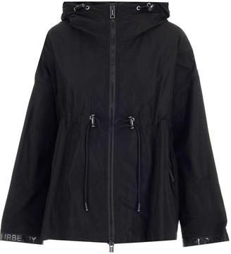 Burberry Logo Tape Hooded Jacket