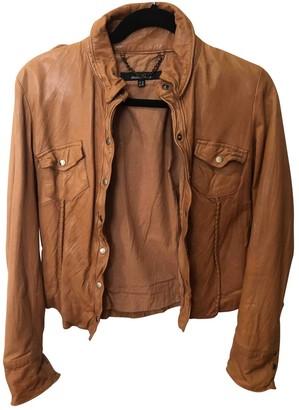Muu Baa Muubaa Camel Leather Jackets