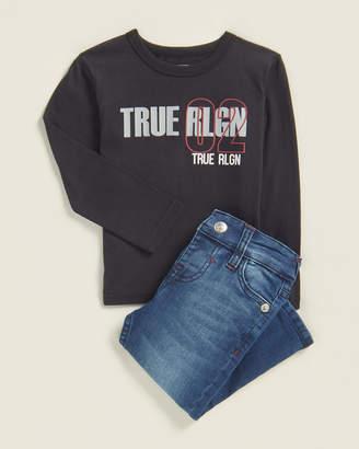True Religion Infant Boys) Two-Piece True 02 Long Sleeve Tee & Jeans Set