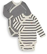 Petit Bateau Baby's Two-Piece Striped Raglan Bodysuit Sets
