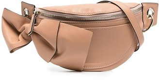Red(V) Bow-Detail Crossbody Bag