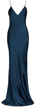 JONATHAN SIMKHAI STANDARD Bias-Cut Satin Maxi Dress