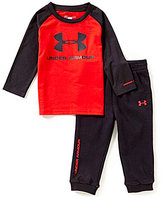 Under Armour Baby Boys 12-24 Months Core Colorblocked Jersey Tee & Solid French Terry Pant Set