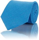 Isaia Men's Solid Necktie-BLUE