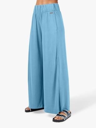 Sweaty Betty Peaceful Split Wide Leg Trousers, Stellar Blue