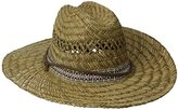 San Diego Hat Company San Diego Hat Co. Men's Straw Lifeguard Hat with Jacquard Band and Chin Strap