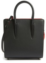 Christian Louboutin Small Paloma Empire Leather Tote - Black