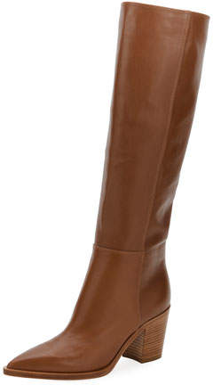 Gianvito Rossi Leather To-The-Knee Boot