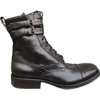 Dirk Bikkembergs Black Leather Boots