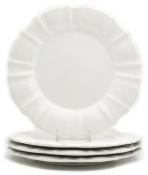 Chloé Euro Ceramica 4 Piece White Dinner Plate Set
