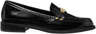 MICHAEL Michael Kors Finley Crinkle Leather Loafers