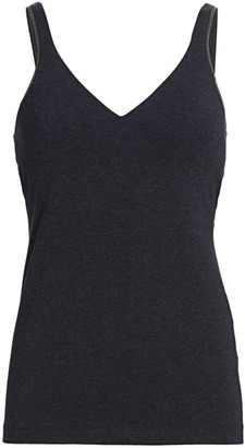 Brunello Cucinelli Monili-Trim Tank Top