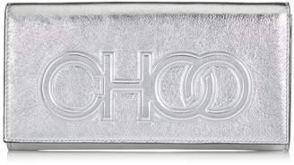 Jimmy Choo SANTINI Silver Metallic Nappa Leather Mini Bag